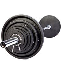 Troy USA Sports Black Olympic Weight Set