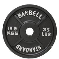 Troy USA Sports Black Olympic Plates - 35LB
