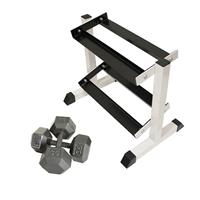 Troy USA Sports Iron Hex Dumbbell Set - 5 to 25LB with Rack