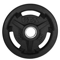 Troy VTX GO-VR Rubber Encased Olympic Grip Plates - 25LB