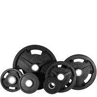 Troy VTX GO-VR Rubber Encased Olympic Grip Plate Set