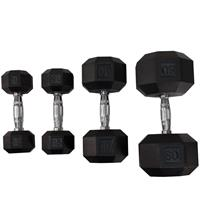 Troy VTX 8 Sided Rubber Encased Dumbbells