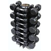 Troy VTX 8 Sided Rubber Encased Dumbbell Set