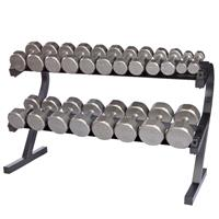 Troy VTX 12 Sided Iron Dumbbell Set - 5 to 50LB with Rack