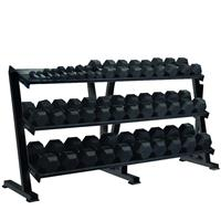 York Professional Hex Tray Dumbbell Rack 3 Tier